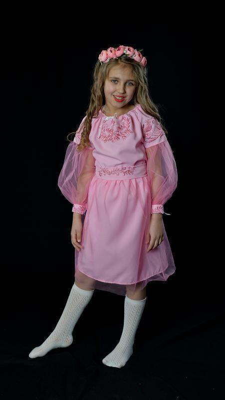 Вишиванка платье-вышиванка для девочки 3-4 года