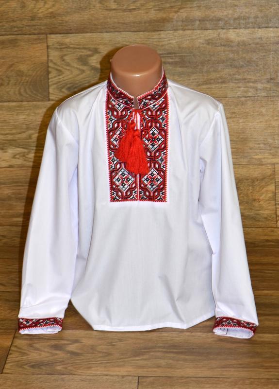 Вишиванка рубашка-вышиванка для мальчика 11 лет