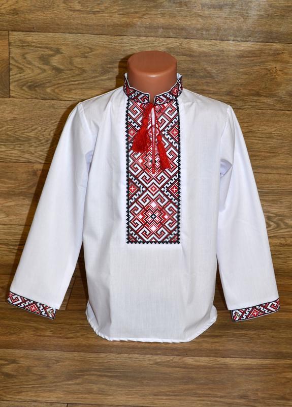 Вишиванка, рубашка-вышиванка для мальчика 7 лет
