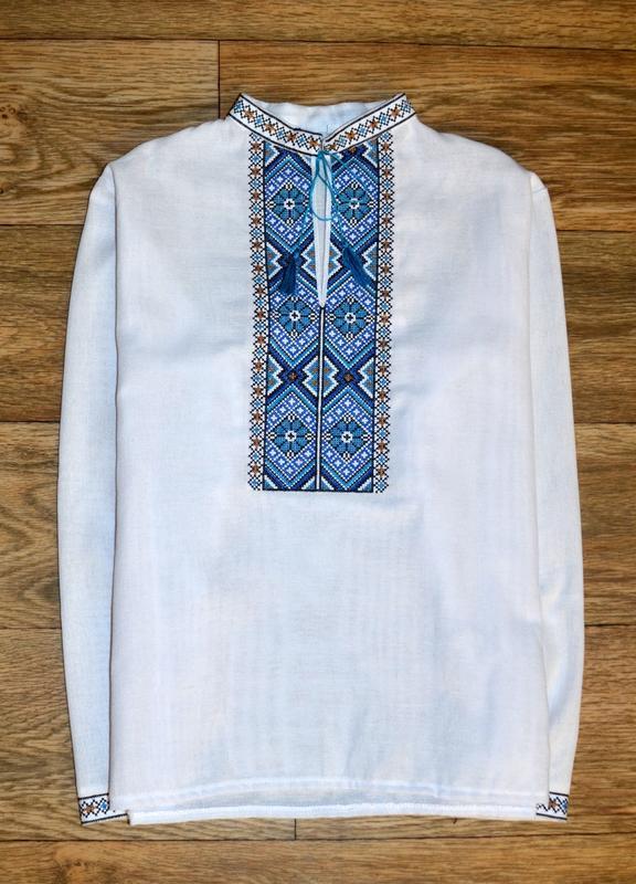Вишиванка, рубашка-вышиванка для мальчика 12-13 лет