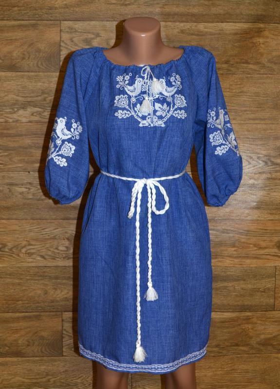Вишиванка, платье-вышиванка размер м