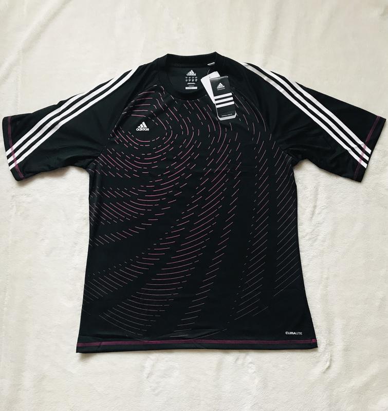 Чёрная спортивная футболка Adidas