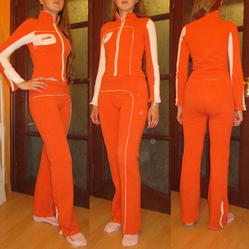 Распродажа! вторая вещь -40%! яркий спортивный костюм оранжевы...