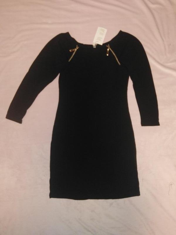 Теплое платье из аноры со змеечками