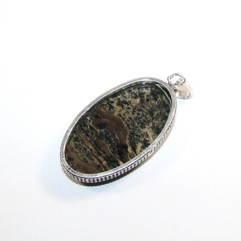 Кулон с дендро опалом - Фото 4