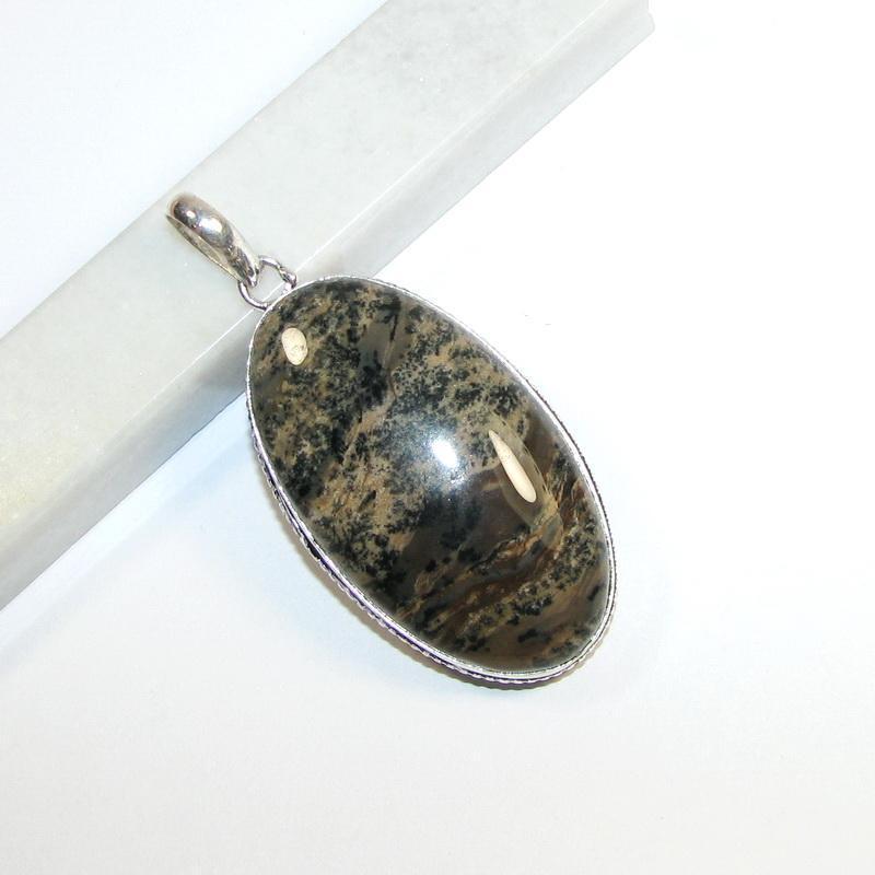 Кулон с дендро опалом - Фото 5