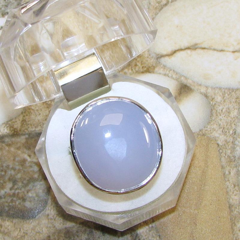 Кольцо с халцедоном, серебро 925, р.18,7