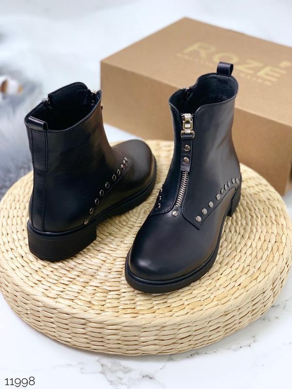 Стильные ботинки из натуральной кожи (зима или деми на выбор)