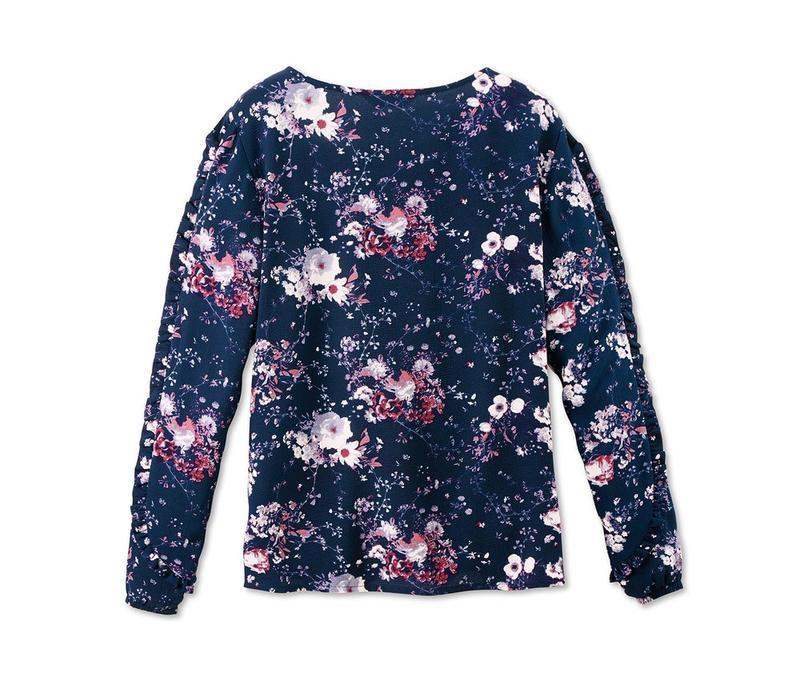 Цветочная блуза свободного кроя р.евро 36 38 s от tchibo германия - Фото 2