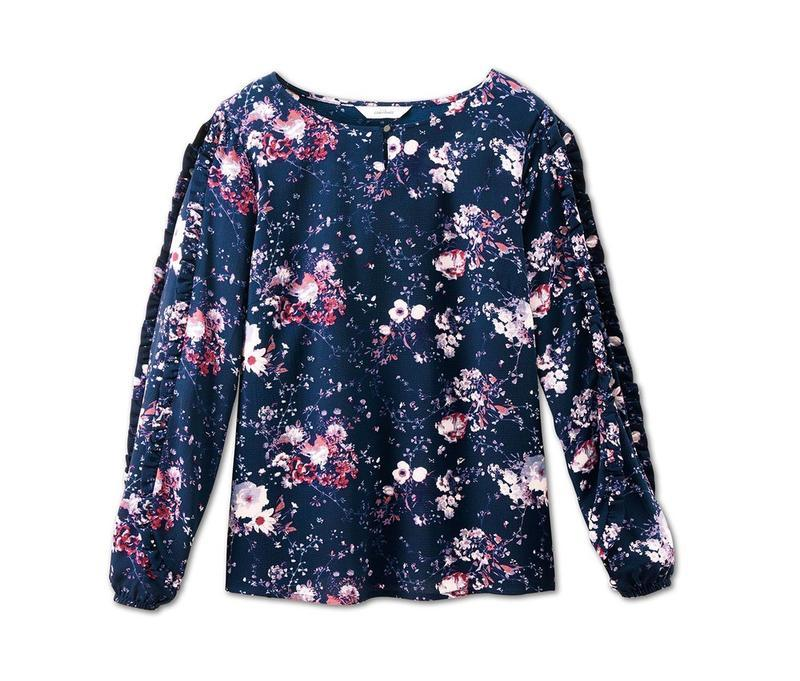 Цветочная блуза свободного кроя р.евро 36 38 s от tchibo германия - Фото 3