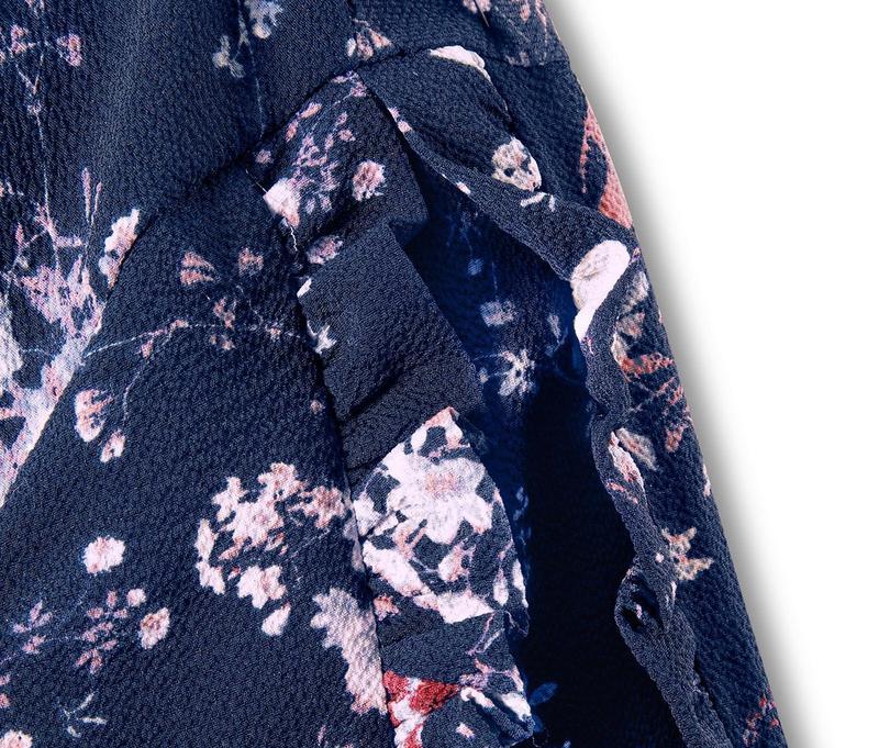 Цветочная блуза свободного кроя р.евро 36 38 s от tchibo германия - Фото 4