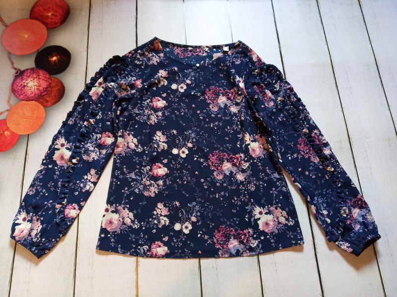 Цветочная блуза свободного кроя р.евро 36 38 s от tchibo германия - Фото 6