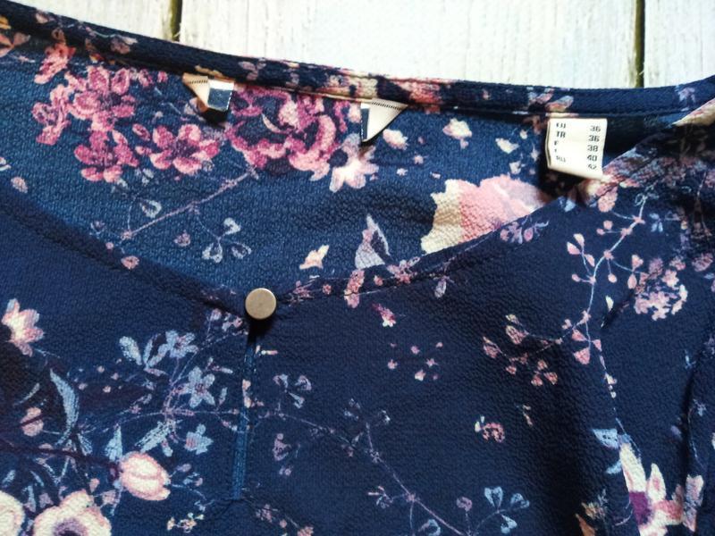 Цветочная блуза свободного кроя р.евро 36 38 s от tchibo германия - Фото 7