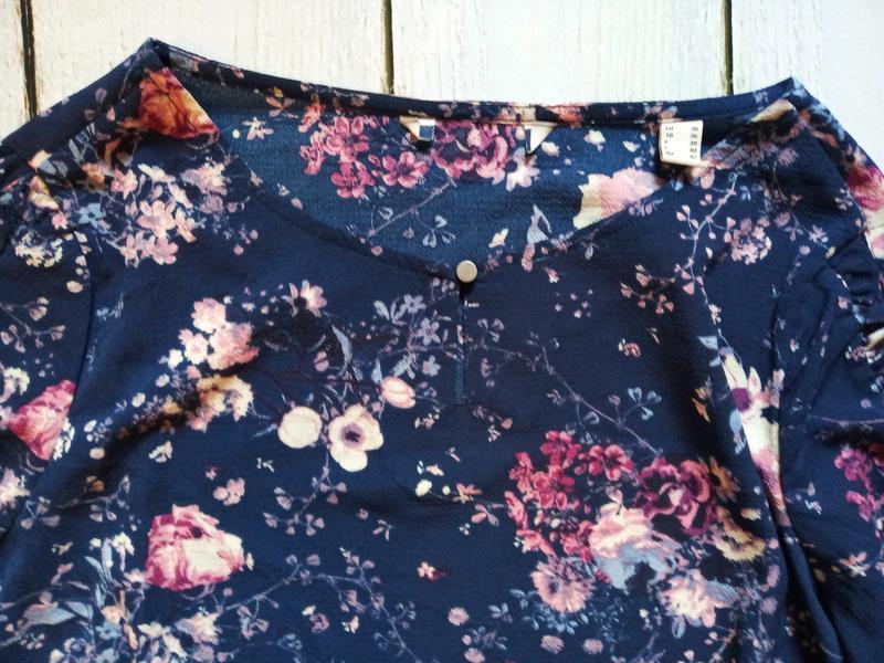 Цветочная блуза свободного кроя р.евро 36 38 s от tchibo германия - Фото 8