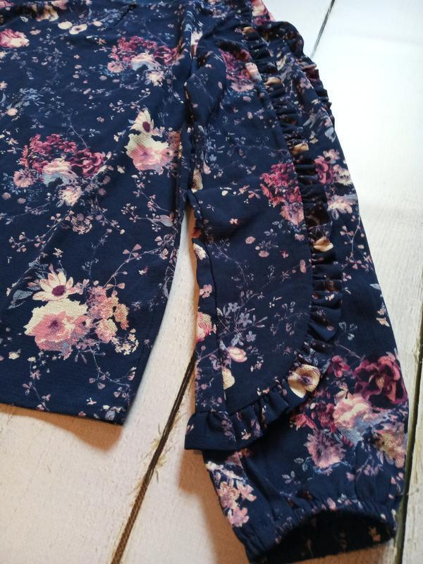 Цветочная блуза свободного кроя р.евро 36 38 s от tchibo германия - Фото 10
