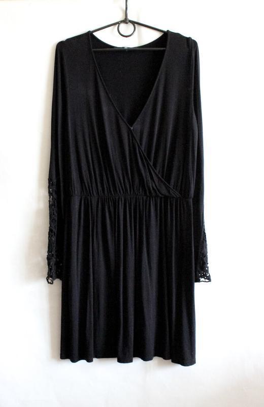 Чёрное платье с кружевом by very