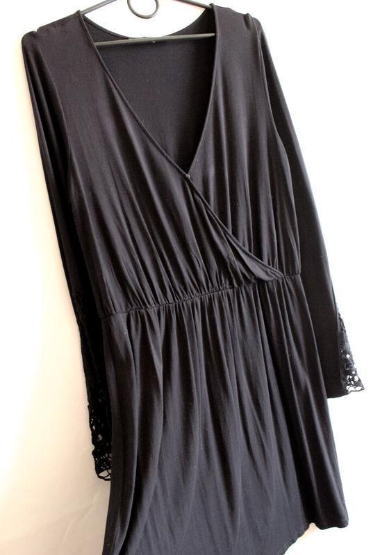 Чёрное платье с кружевом by very - Фото 2