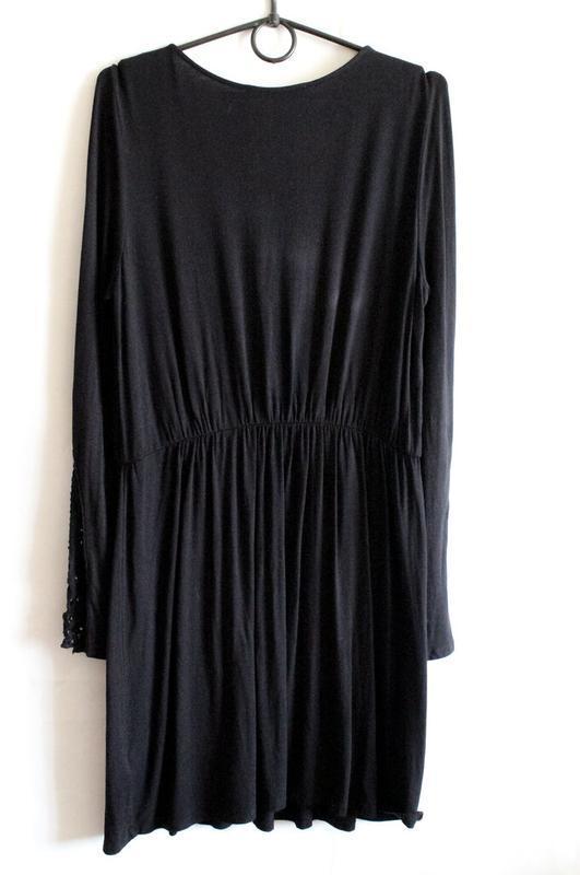 Чёрное платье с кружевом by very - Фото 7