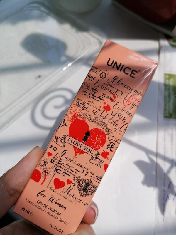Парфюмированная вода i love you, unice