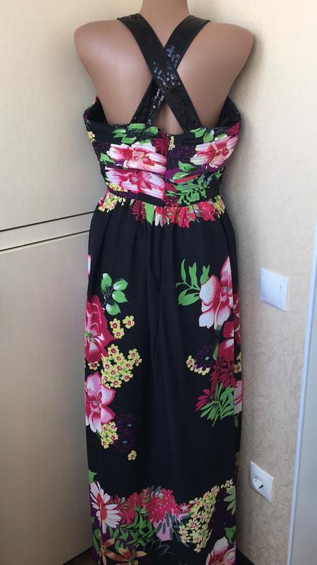 Шикарное платье с пайетками - Фото 2
