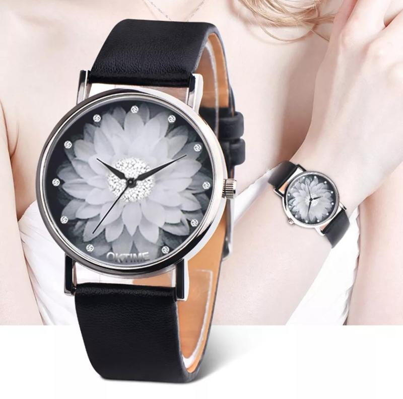 Часы женские с цветочком