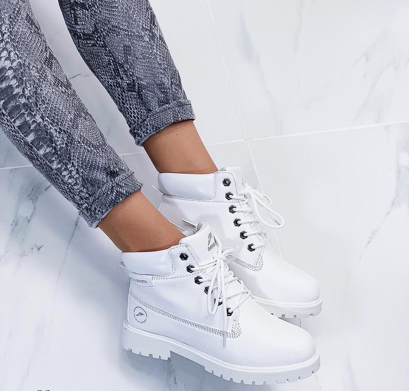 Новые шикарные женские зимние белые ботинки - Фото 2