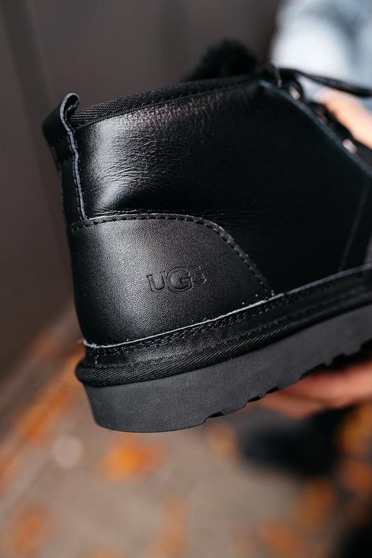 """🛡️ugg neumel """"leather black""""🛡️угги мужские, кожаные чёрные уги... - Фото 3"""