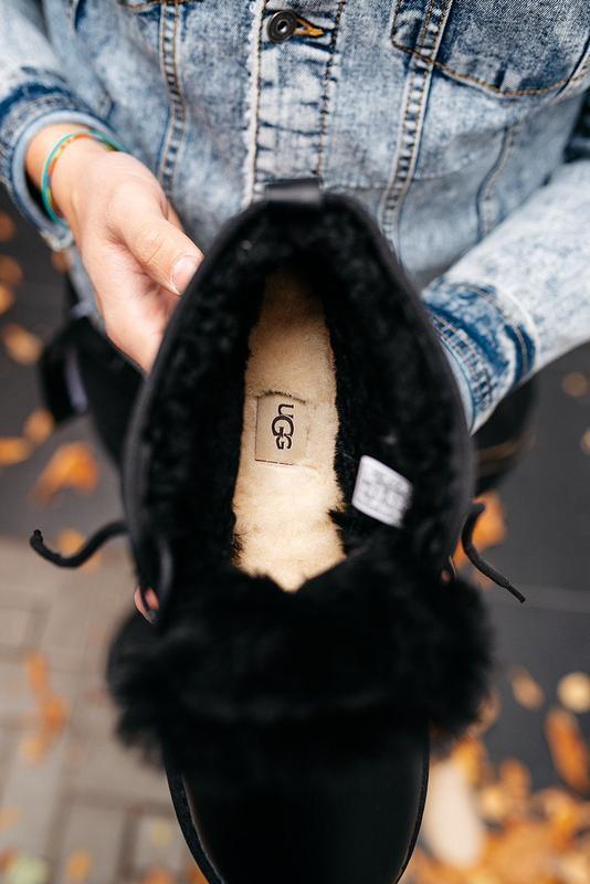 """🛡️ugg neumel """"leather black""""🛡️угги мужские, кожаные чёрные уги... - Фото 5"""