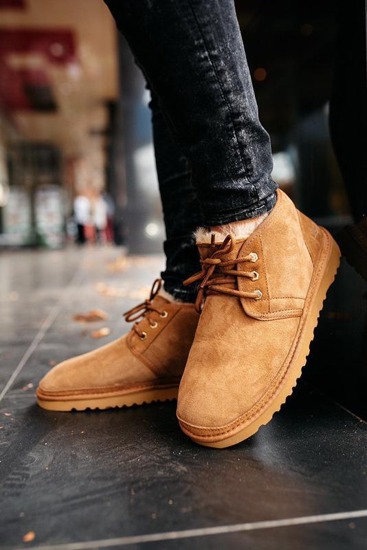 💠ugg neumel leather brown💠мужские замшевые угги/уги/ботинки, к...