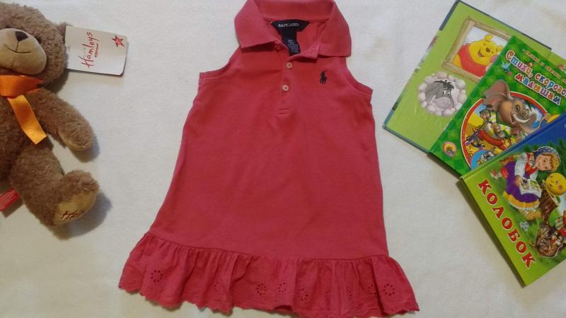 """Терракотовое платье - туника """"ralph lauren"""", 18 месяцев"""