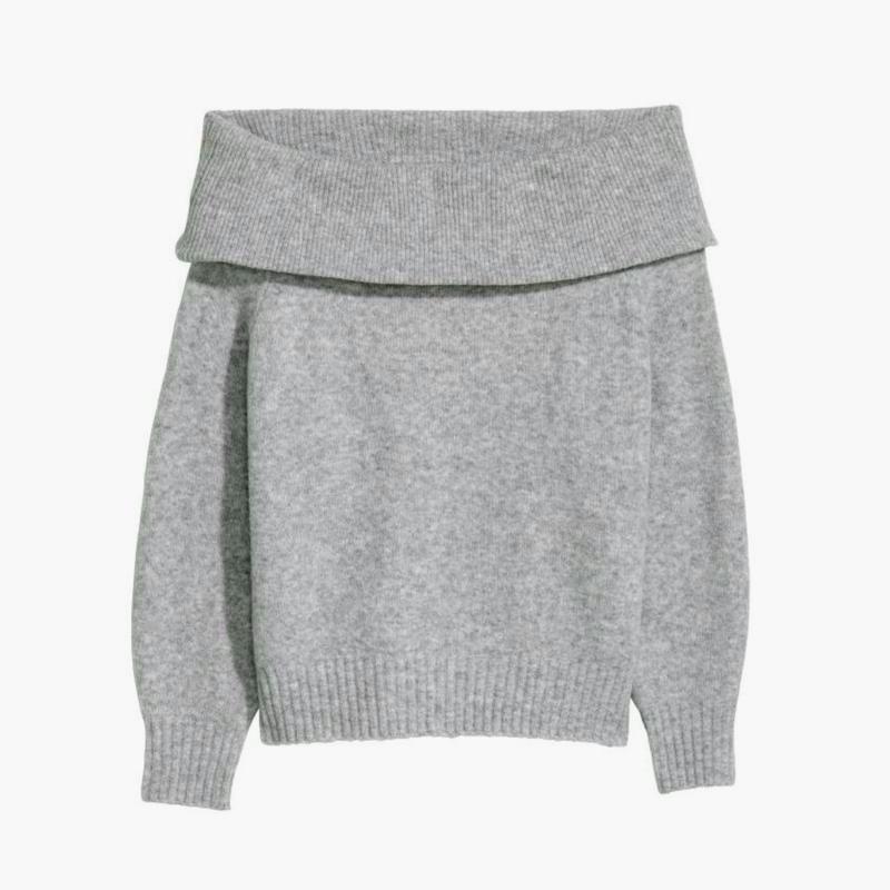 В наличии - тёплый свитер с шерстью на плечи *h&m* р. l - Фото 2