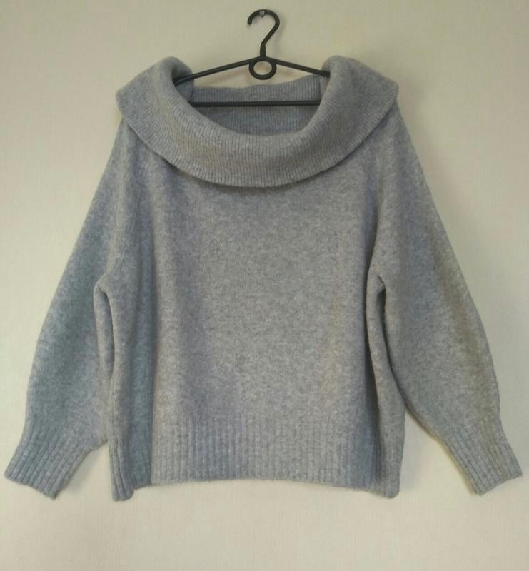 В наличии - тёплый свитер с шерстью на плечи *h&m* р. l - Фото 4
