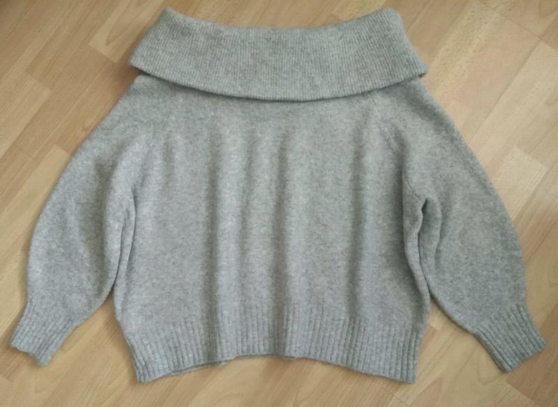 В наличии - тёплый свитер с шерстью на плечи *h&m* р. l - Фото 5