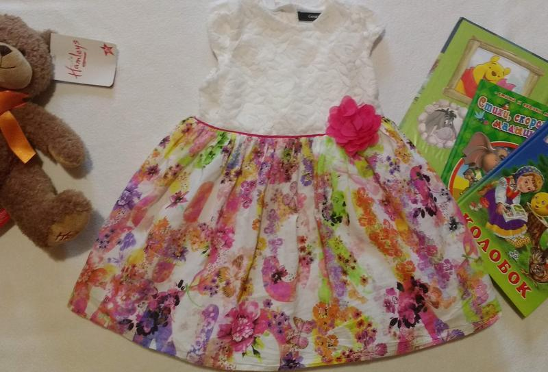 """Красивое нарядное платье на праздник """"george"""", 2-3 года, 92-98 см"""