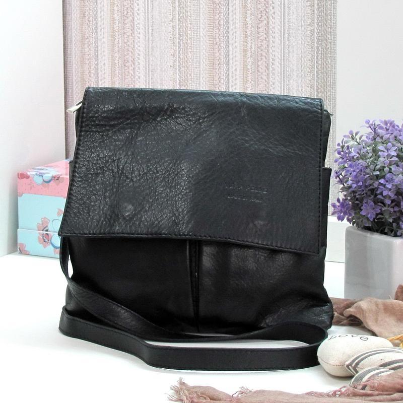 Классная сумка vera pelle, италия, натуральная кожа