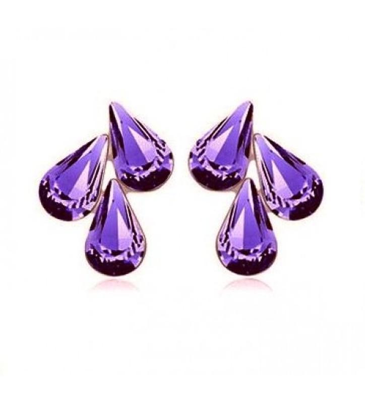 🏵ювелирные серьги с кристаллами, новые! арт. 8298