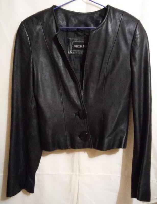 Кожаная куртка пиджак FRECCIA D'ORO