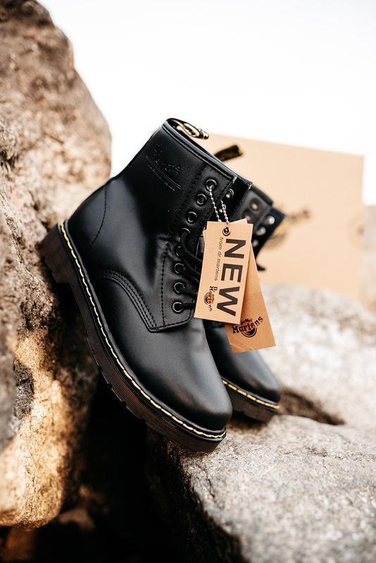 🔘dr. martens 1460 black🔘зимние кожаные чёрные ботинки мартинс ...