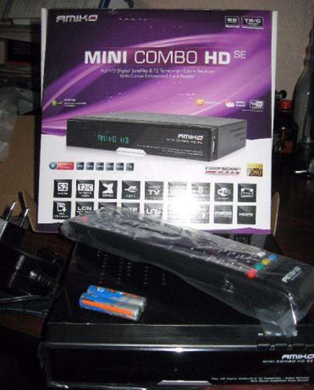 Цифровой спутниковый и эфирный Т2 Full HD Amiko MINI COMBO HD ...