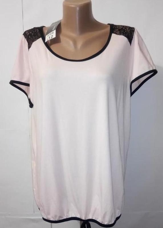Блуза персиковая нарядная с кружевной спинкой george uk 16-18 ...