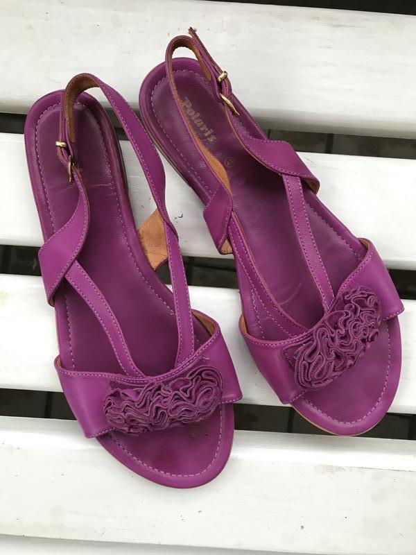 Кожаные сандали босоножки большого размера