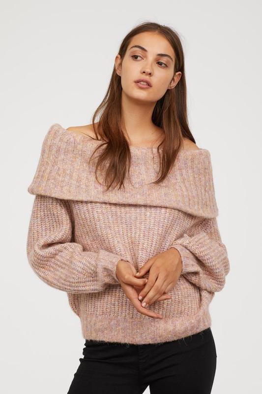 Превосходный свитер оверсайз на плечи h&m