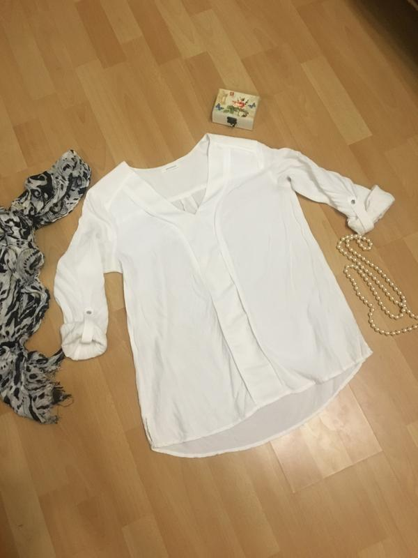 Белая рубашка блуза promod