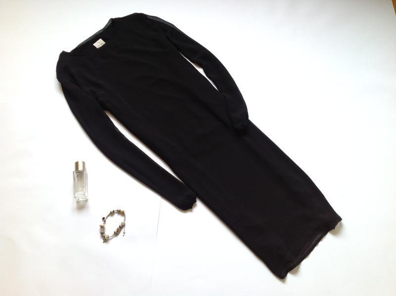 Длинная шифоновая блуза туника с разрезами