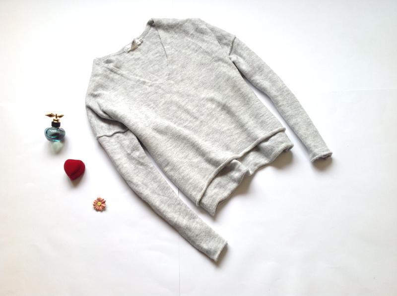 Серый свитер джемпер оверсайз с шерстью h&m. обнова! смотрите ...