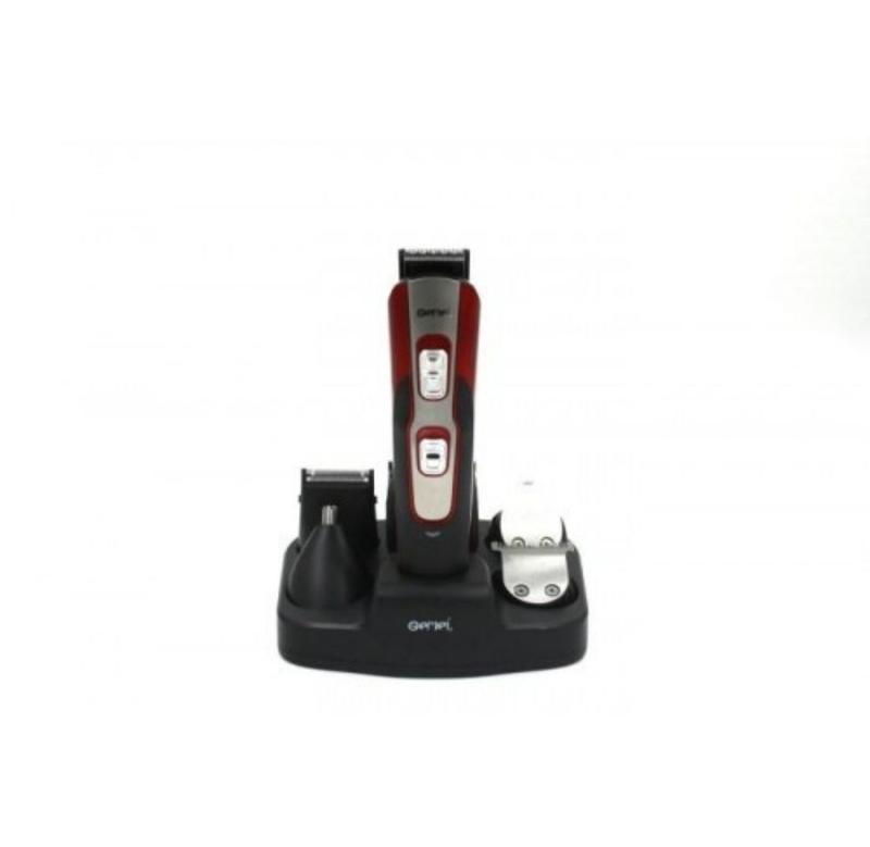 Машинка для стрижки Gemei GM 592 10 в 1 Черный с красным (gr_0072