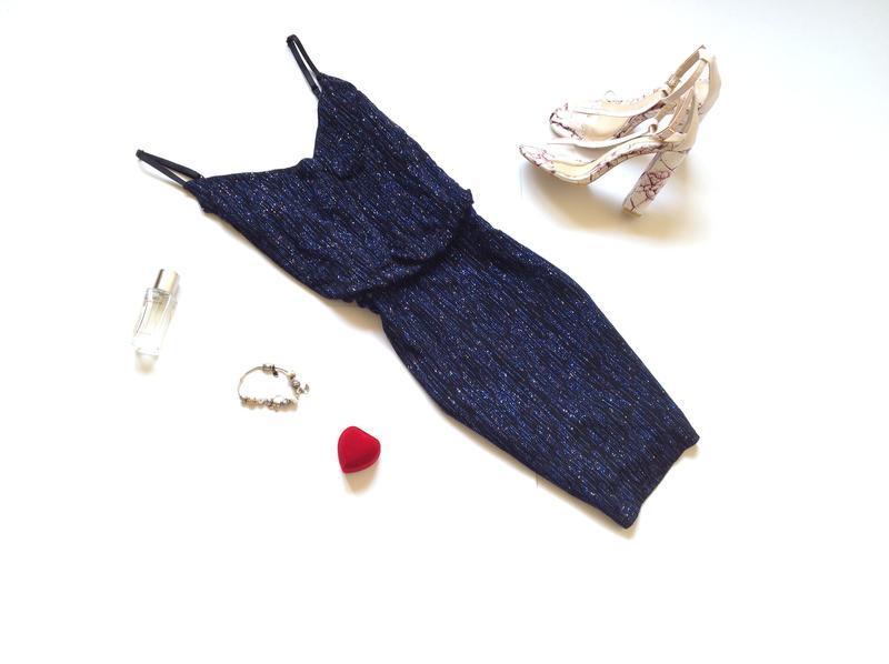 Блестящее вечернее платье мини new look