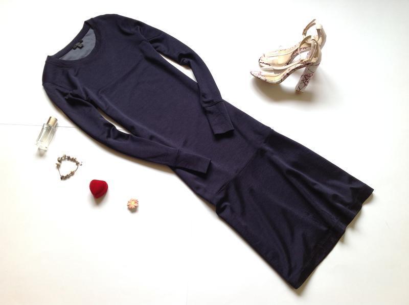 Темно-синее платье миди cos