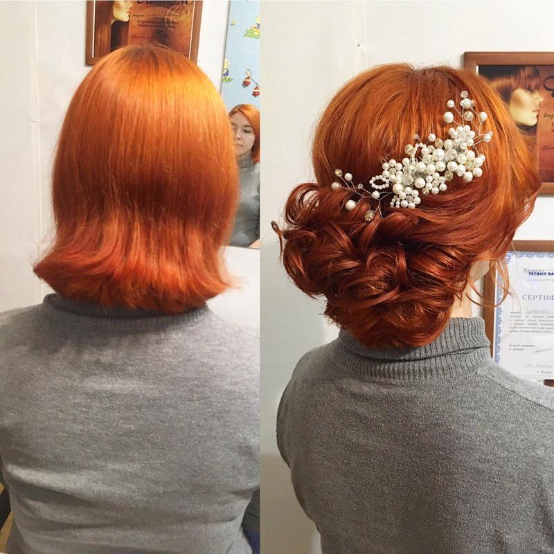 Свадебные, вечерние прически. Кератиновое восстановление волос. - Фото 5