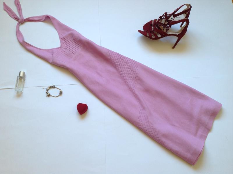 Льняное платье миди сарафан